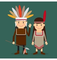 American indians children vector image