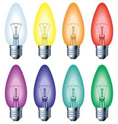 Color light bulb vector image