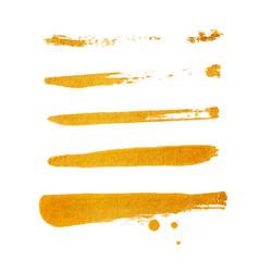 golden brush stroke golden splash vector image