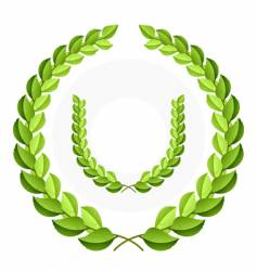green laurel wreath vector image vector image