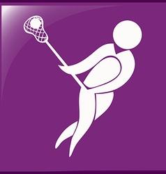 Logo design for lacrosse vector image
