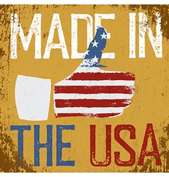 Made in the USA Vintage poster Retro Thum vector image vector image