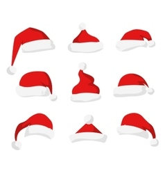 Santa Claus red hat isolated vector image vector image