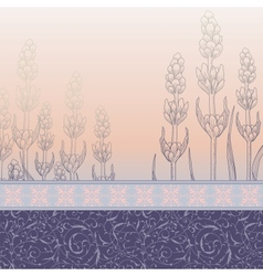 Summer background with wild flowers vector image vector image