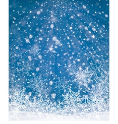 winter background blue vector image