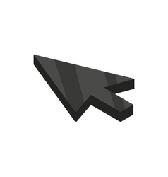 Black cursor icon isometric 3d style vector image vector image
