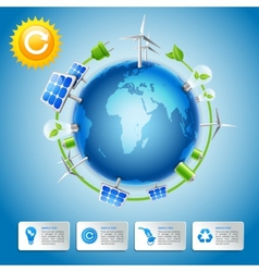 Green energy and power concept vector image vector image
