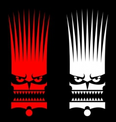 savage mask vector image vector image