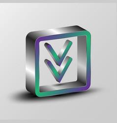 3d of a download symbol vector image vector image