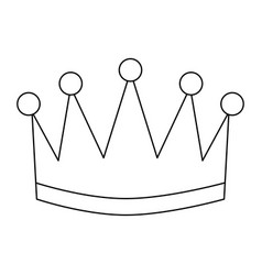 Award crown honor winner success icon vector