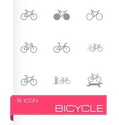 black bicycle icon set vector image vector image