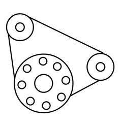 motor icon outline style vector image