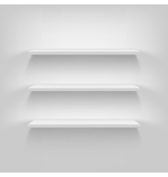 Shelves attached to the wall vector image