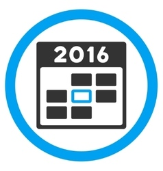 2016 Organizer Day Icon vector image