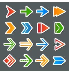 Arrow Symbols Icons Set vector image