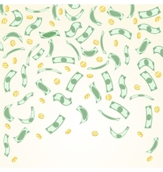 Background with money falling from above vector image