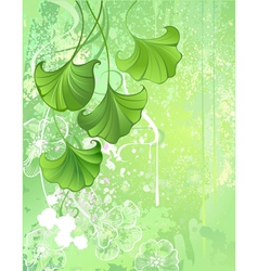 background with spring green leaves vector image vector image