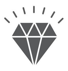 diamond glyph icon expensive and luxury vector image