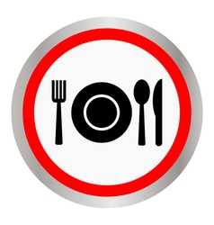Fork spoon and plate vector image