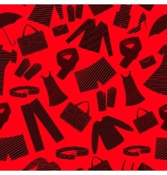 Mens and womens wear shapes background vector image