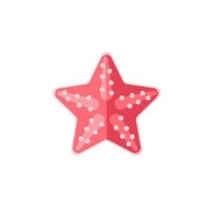Pink Starfish Primitive Style Childish Sticker vector image