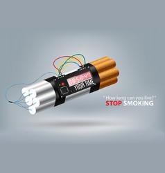 stop smoking concept advertisement tobacco vector image