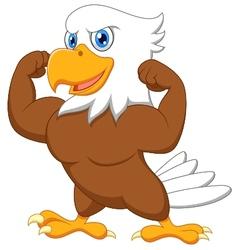 Strong eagle cartoon vector image vector image