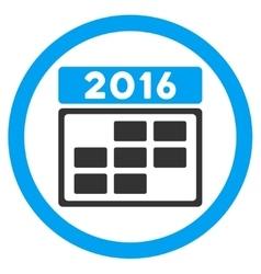 2016 Calendar Grid Icon vector