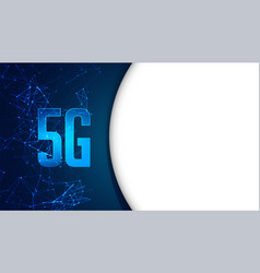 5g fifth generation mobile technology concept vector