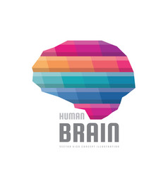 Abstract human brain - logo template vector