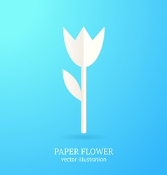 Abstract paper flower for your design vector