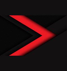 Abstract red dark arrow direction on dark grey vector
