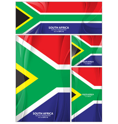 abstract south africa flag background vector image