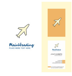 aeroplane creative logo and business card vector image
