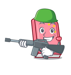 Army diary character cartoon style vector