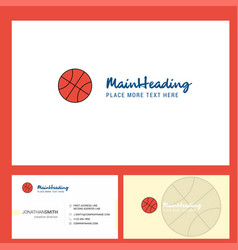 basket ball logo design with tagline front and vector image
