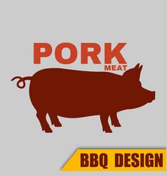 Bbq pork logo image vector