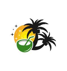beach vacation logo design vector image