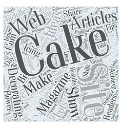 Cake decorating magazine Word Cloud Concept vector