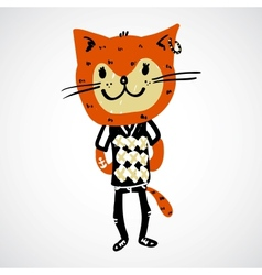 Cat teenager character vector image