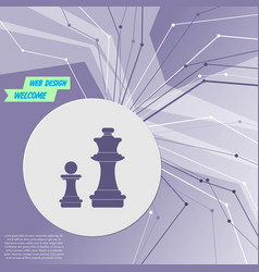 Chess icon on purple abstract modern background vector