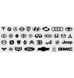 Collection car brands logos vector