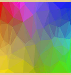 colorful polygonal background rumpled triangular vector image