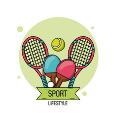 Colorful poster of sport lifestyle with elements vector