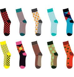 colorful socks set vector image