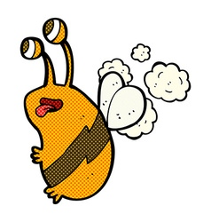 comic cartoon funny bee vector image