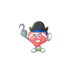 Cool one hand pirate chinese tops toy wearing hat vector