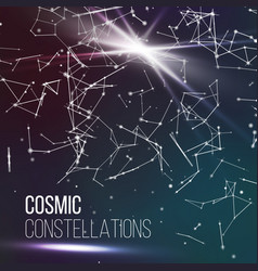 Cosmic constellations modern background vector