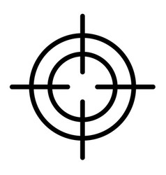 Crosshair icon outline style vector