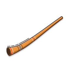 Didgeridoo is a traditional musical instrument of vector